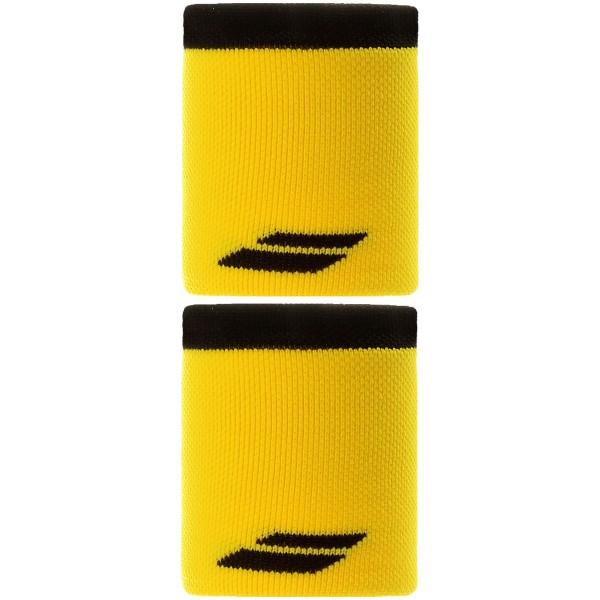 """Напульсник Babolat Logo Jumbo Ярко-желтый/Черный 5"""""""