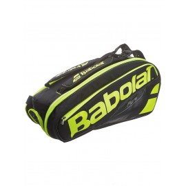 Теннисная cумка Babolat Pure Black/Fluo Yellow на 6 ракеток