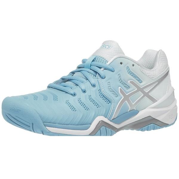 Теннисные кроссовки жен Asics Gel-Resolution 7 White/Blue