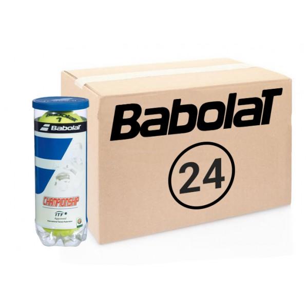 Теннисные мячи Babolat Championship коробка 72 мяча (24 по 3)