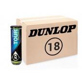 Теннисные мячи Dunlop Tour Brilliance 72 мяча (18 по 4 мяча)