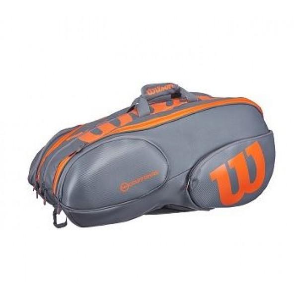 Теннисная сумка Wilson Vancouver Burn Grey/Orange на 15 ракеток 2017