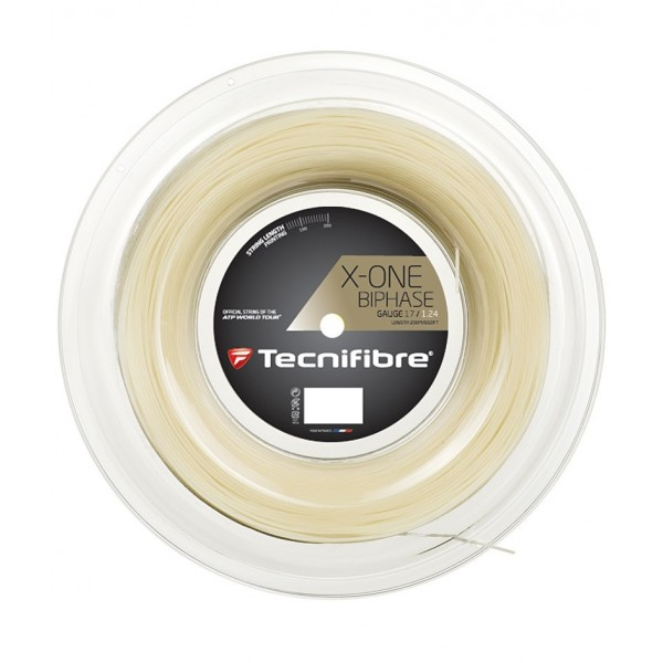 Теннисная струна Tecnifibre X-One Biphase 1.24 200 м