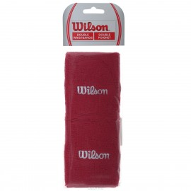 "Напульсник Wilson Double Wristbands 5"" Красный"