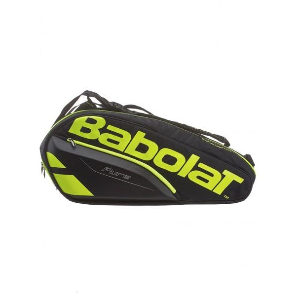 Теннисная cумка Babolat Pure Black/Fluo Yellow на 6 ракеток