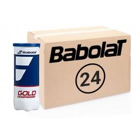 Теннисные мячи Babolat Championship Gold коробка 72 мяча (24 по 3)
