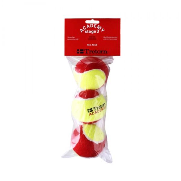 Детские теннисные мячи Tretorn Academy Stage 3 Красные