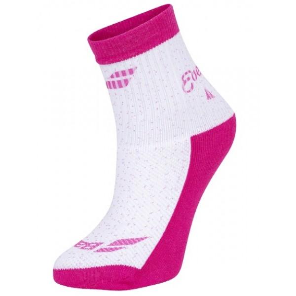 Носки теннисные для девочек Babolat Graphic White/Pink