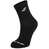 Носки теннисные Babolat Socks Unisex Black 3 пары