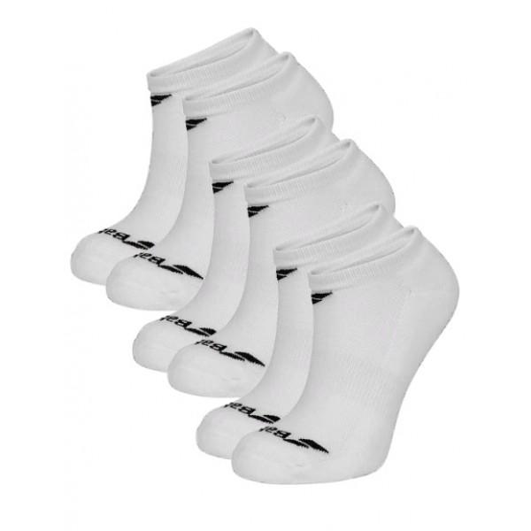 Носки теннисные Babolat Invisible Unisex White 3 пары