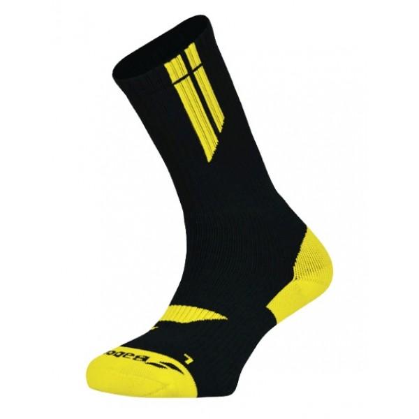Носки теннисные Babolat Team BigLogo Black/Yellow