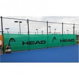Ветровой экран (фон) ,размер 3*18м (зелёный) с логотипом HEAD