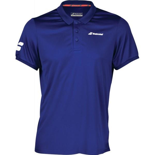 Мужское поло Babolat Core Club (Blue) для большого тенниса