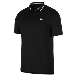 Мужское поло Nike Court Dri-FIT (Black) для большого тенниса