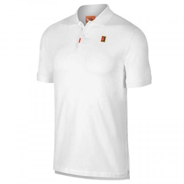 Мужское поло Nike The Polo (White) для большого тенниса