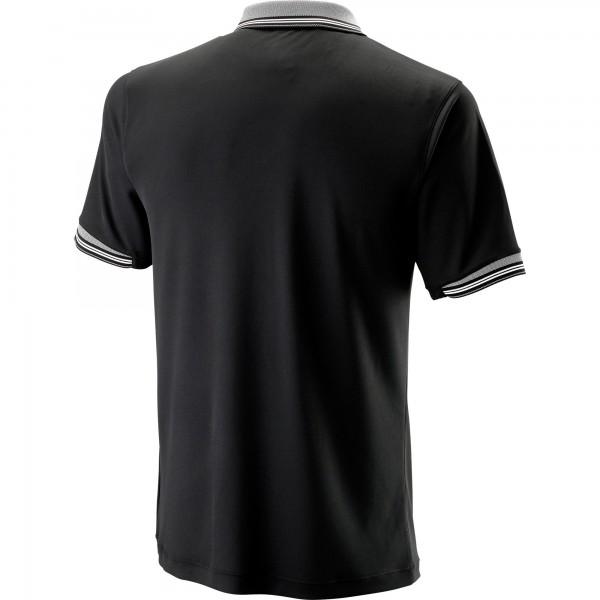 Мужское поло Wilson Star Tipped (Black) для большого тенниса