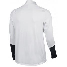 Мужская футболка утепленная Babolat Zip Wimbledon (White) для большого тенниса