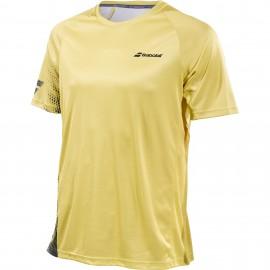 Футболка детская Babolat Perf Crew Neck (Yellow/Black) для большого тенниса