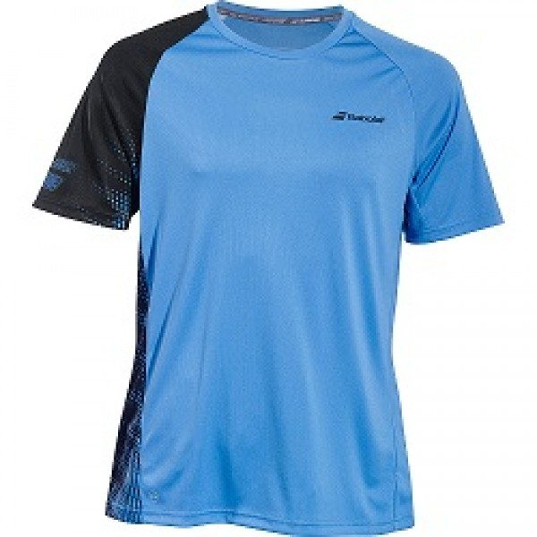 Мужская футболка Babolat Perf Crew Neck (Blue) для большого тенниса