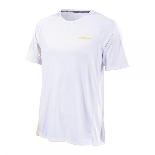 Мужская футболка Babolat Perf Crew Neck (White) для большого тенниса