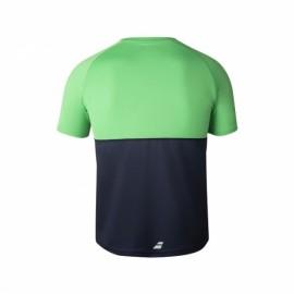 Мужская футболка Babolat Play Crew Neck (Dark Blue/Green) для большого тенниса