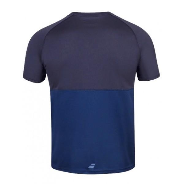 Мужская футболка Babolat Play Crew Neck (Dark Blue) для большого тенниса