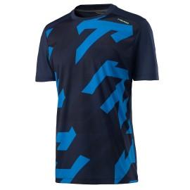 Мужская футболка Head Vision Camo (Dark blue) для большого тенниса