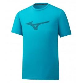 Мужская футболка Mizuno Heritage RB Tee (Blue) для большого тенниса