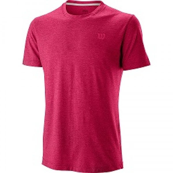 Мужская футболка Wilson Competition Flecked Crew (Granita) для большого тенниса