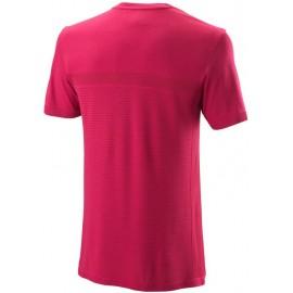 Мужская футболка Wilson Competition Seamless Crew (Granita/Anemone) для большого тенниса