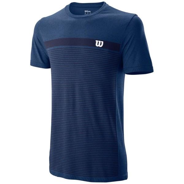 Мужская футболка Wilson Competition Seamless Crew (Peacoat) для большого тенниса
