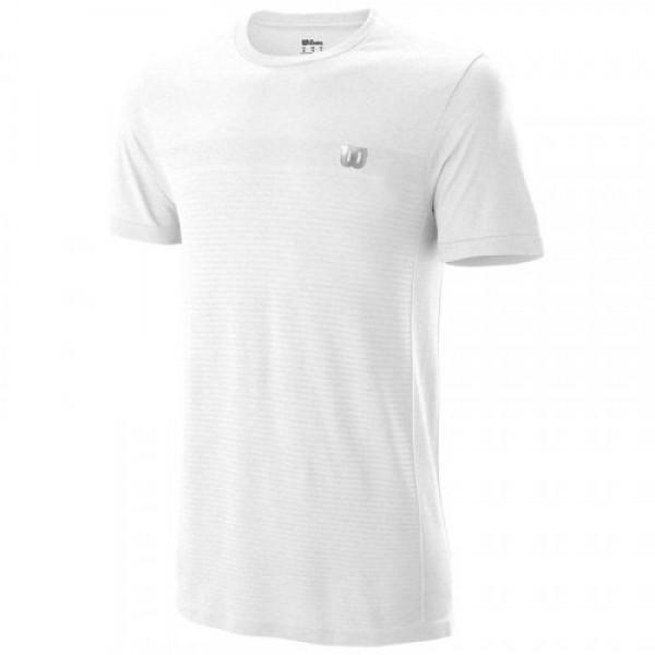 Мужская футболка Wilson Competition Seamless Crew (White) для большого тенниса