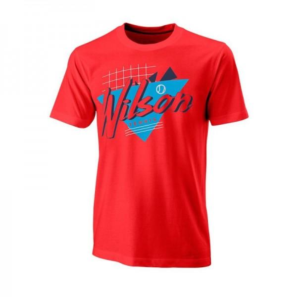 Мужская футболка Wilson Nostalgia Tech Tee (Infrared) для большого тенниса
