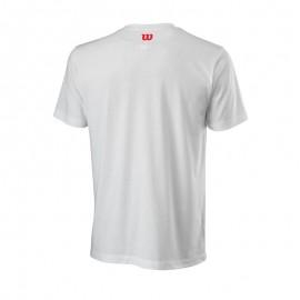 Мужская футболка Wilson Nostalgia Tech Tee (White) для большого тенниса