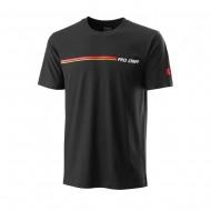Мужская футболка Wilson Pro Staff Tech Tee (Black) для большого тенниса