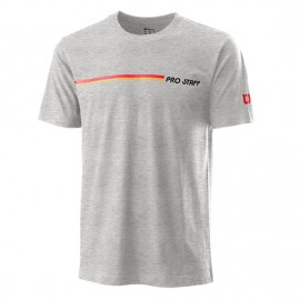 Мужская футболка Wilson Pro Staff Tech Tee (Heateher Grey) для большого тенниса