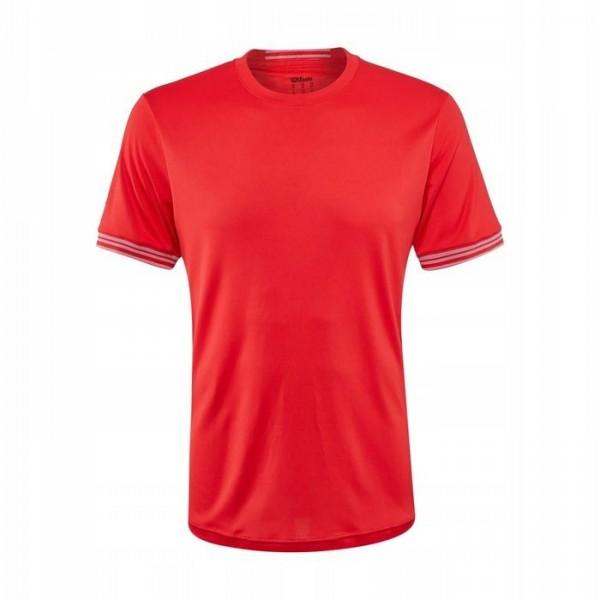 Футболка детская Wilson Team Solid Crew (Red) для большого тенниса