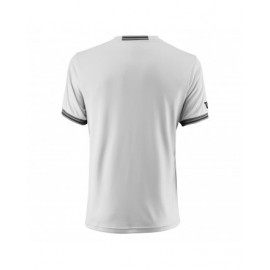 Мужская футболка Wilson Team Solid Crew (White/Black) для большого тенниса