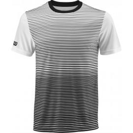 Футболка детская Wilson Team Striped Crew (Black/White) для большого тенниса