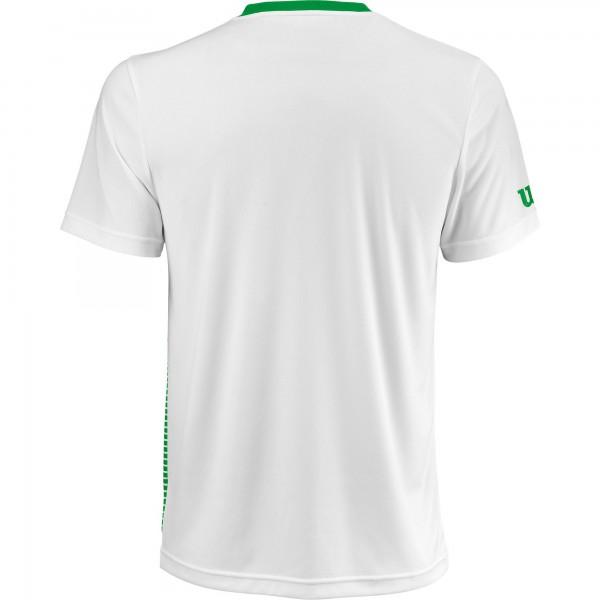 Мужская футболка Wilson Team Striped Crew (Toucan/White) для большого тенниса