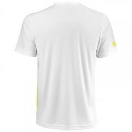 Мужская футболка Wilson Team Striped Crew (Yellow/White) для большого тенниса