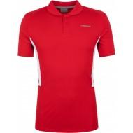 Мужское поло Head Club Tech  (RED) для большого тенниса