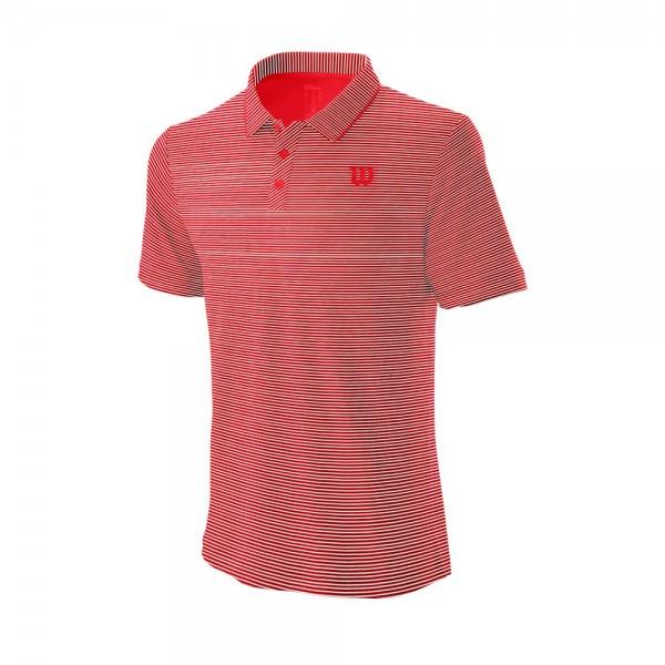 Мужское поло Wilson Training (Red/White) для большого тенниса
