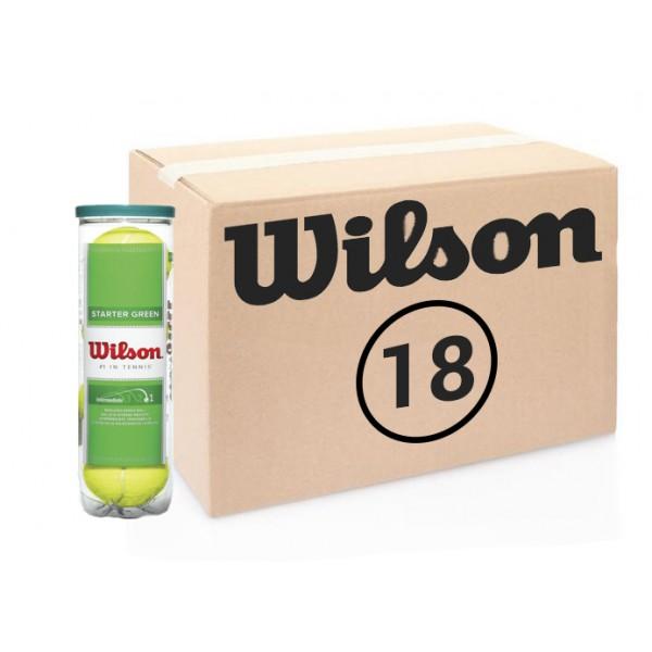 Теннисные мячи Wilson Strater Green 72 мяча