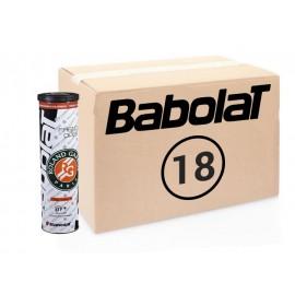 Теннисные мячи Babolat French Open Roland Garros Грунт 72 мяча (18 по 4)