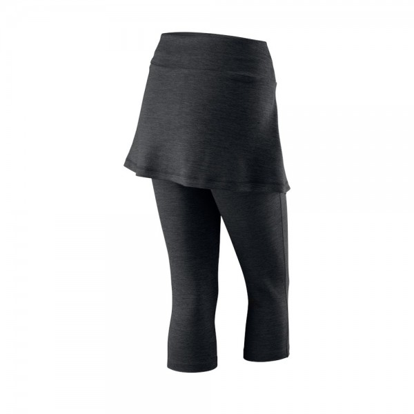 Женские капри с юбкой Wilson Rush Capri Skort III (Charcoal Heather) для большого тенниса