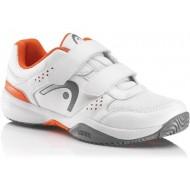 Детские кроссовки Head Lazer Velcro Junior (White/Orange) для большого тенниса