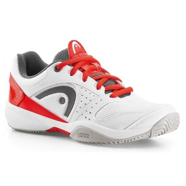 Детские кроссовки Head Sprint LDT. Junior (White/Flame) для большого тенниса