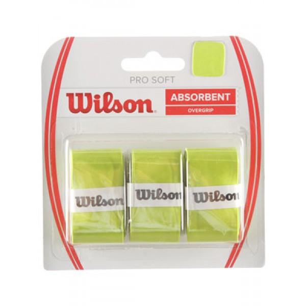 Теннисная намотка Wilson Pro Soft Overgrip Салатовая